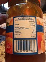 Confiture abricots - Informations nutritionnelles - fr