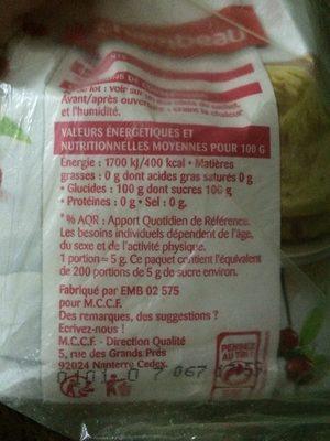 Sucre en poudre - Ingrédients - fr