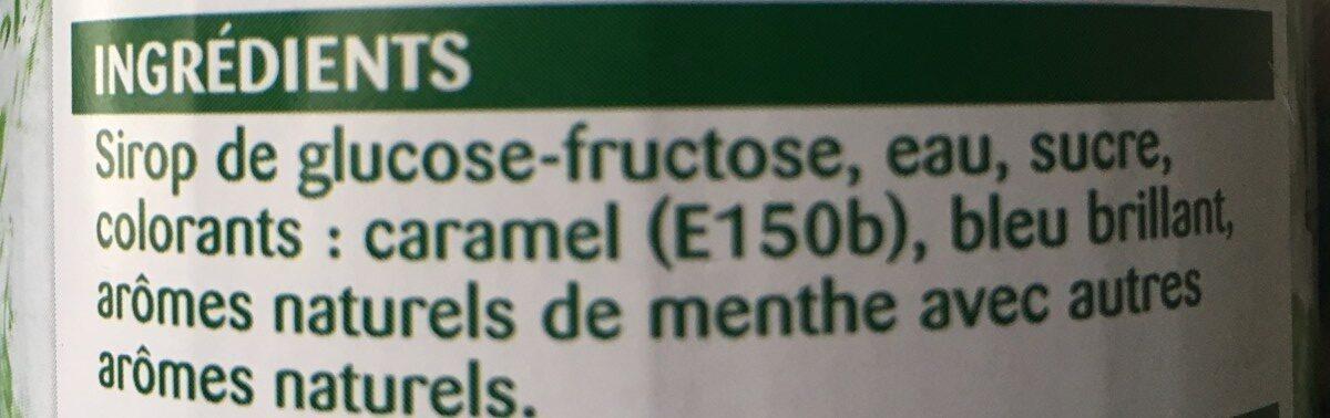 Sirop menthe verte - Inhaltsstoffe - fr