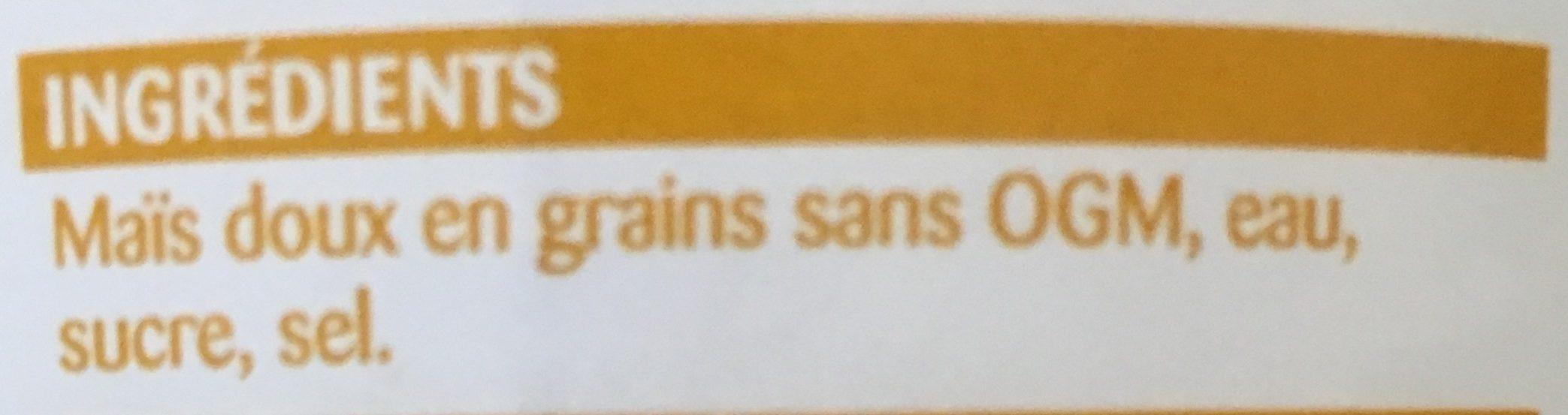 Maïs doux en grains - Ingrédients - fr