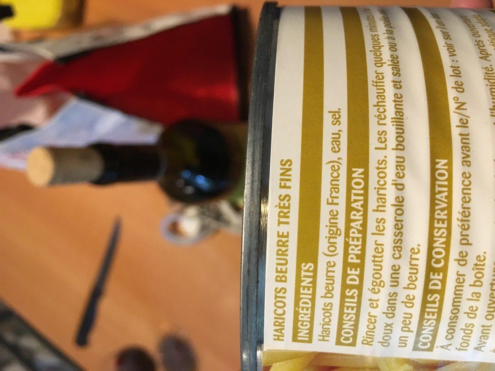 Haricots beurre - Ingrédients - fr