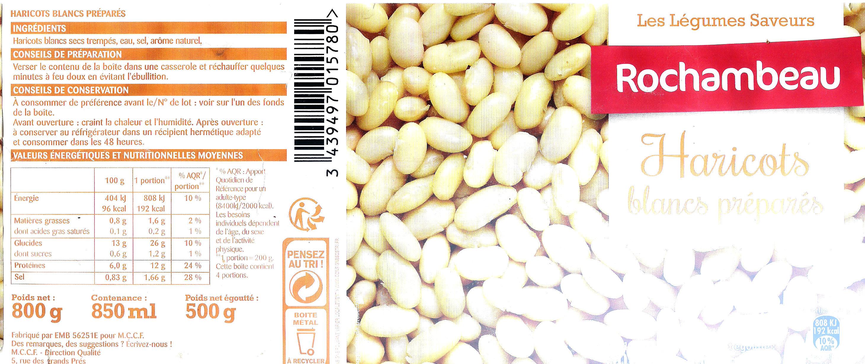Rochambeau Haricots blancs préparés - Produit