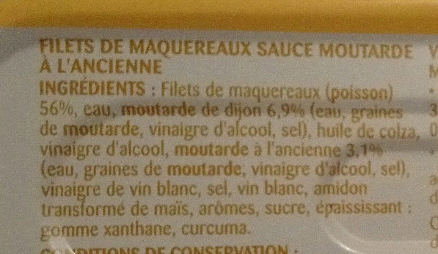 Filets de maquereaux sauce moutarde à l'ancienne - Ingrediënten