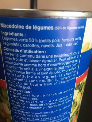macedoine - Ingrédients - fr