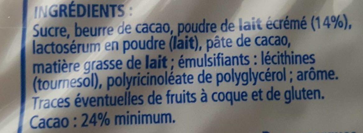 Chocolat de ménage au lait - Ingrédients - fr