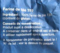 Farine de blé T55 Aro - Ingrédients - fr