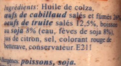 Tarama aux Oeufs De Truite - Ingrédients - fr