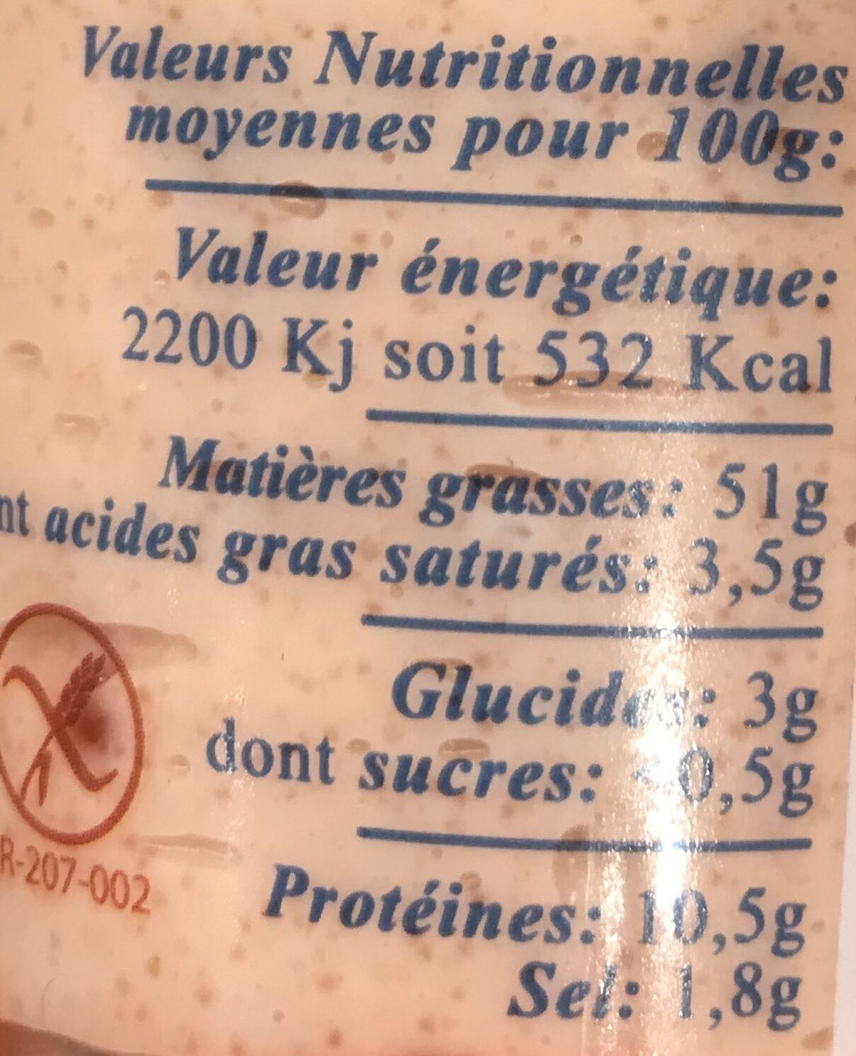 Tarama aux Oeufs De Truite - Informations nutritionnelles - fr