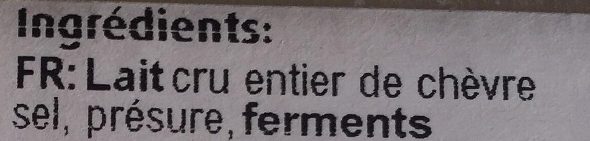 Rocamadour AOP - Fromage au lait de chèvre - Ingrédients - fr