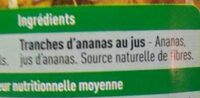 Ananas au jus - Ingrédients - fr