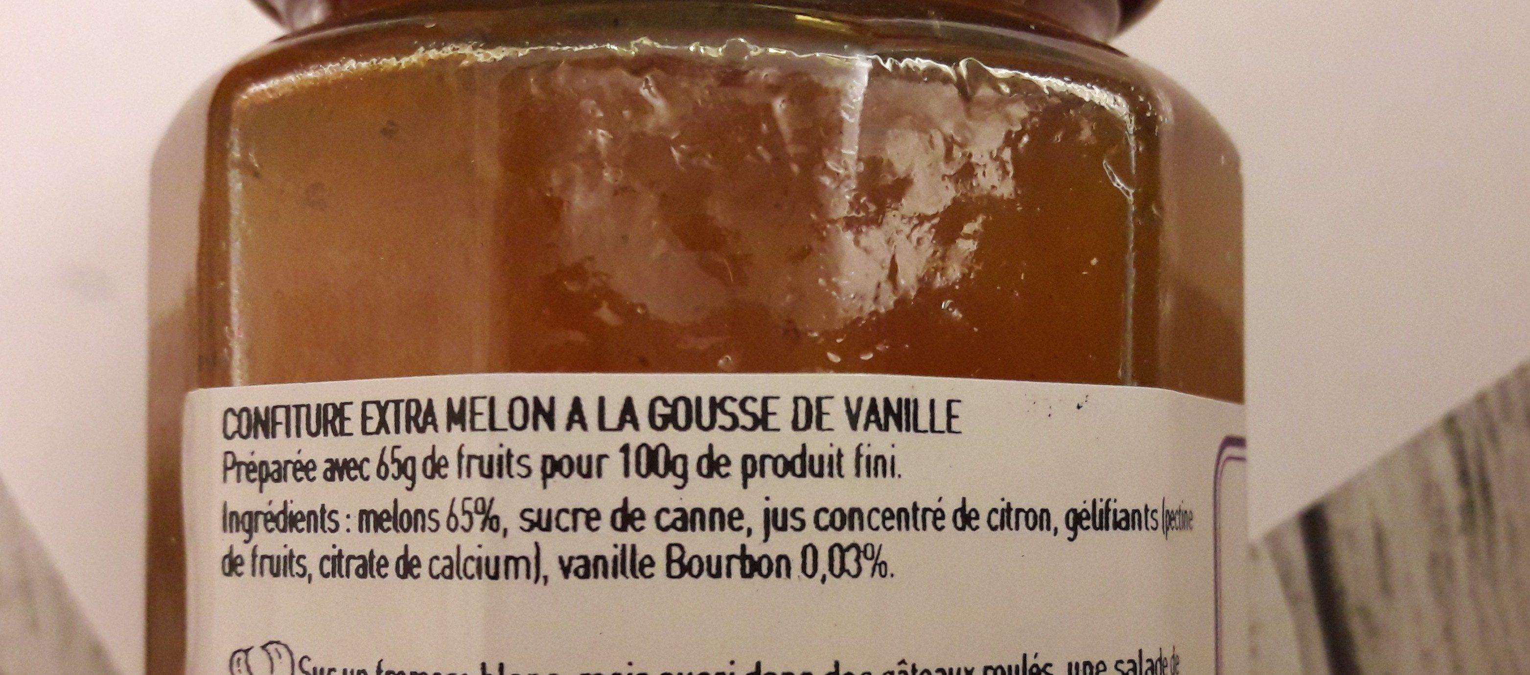 Confiture artisanale Melon à la gousse de vanille - Ingrédients