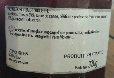 Confiture fraise violette - Ingrédients - fr