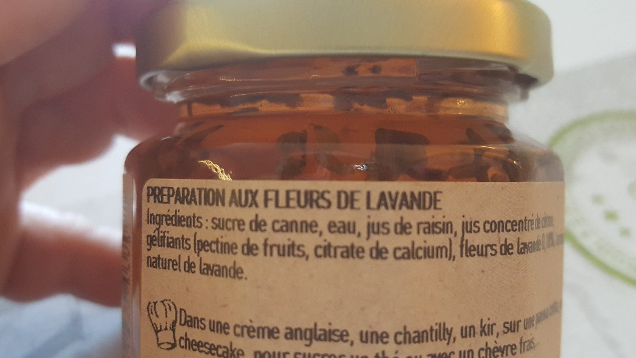 L'epicurien Lavender Buds Jelly - Confit of Lavender Flowers - Ingredients - fr