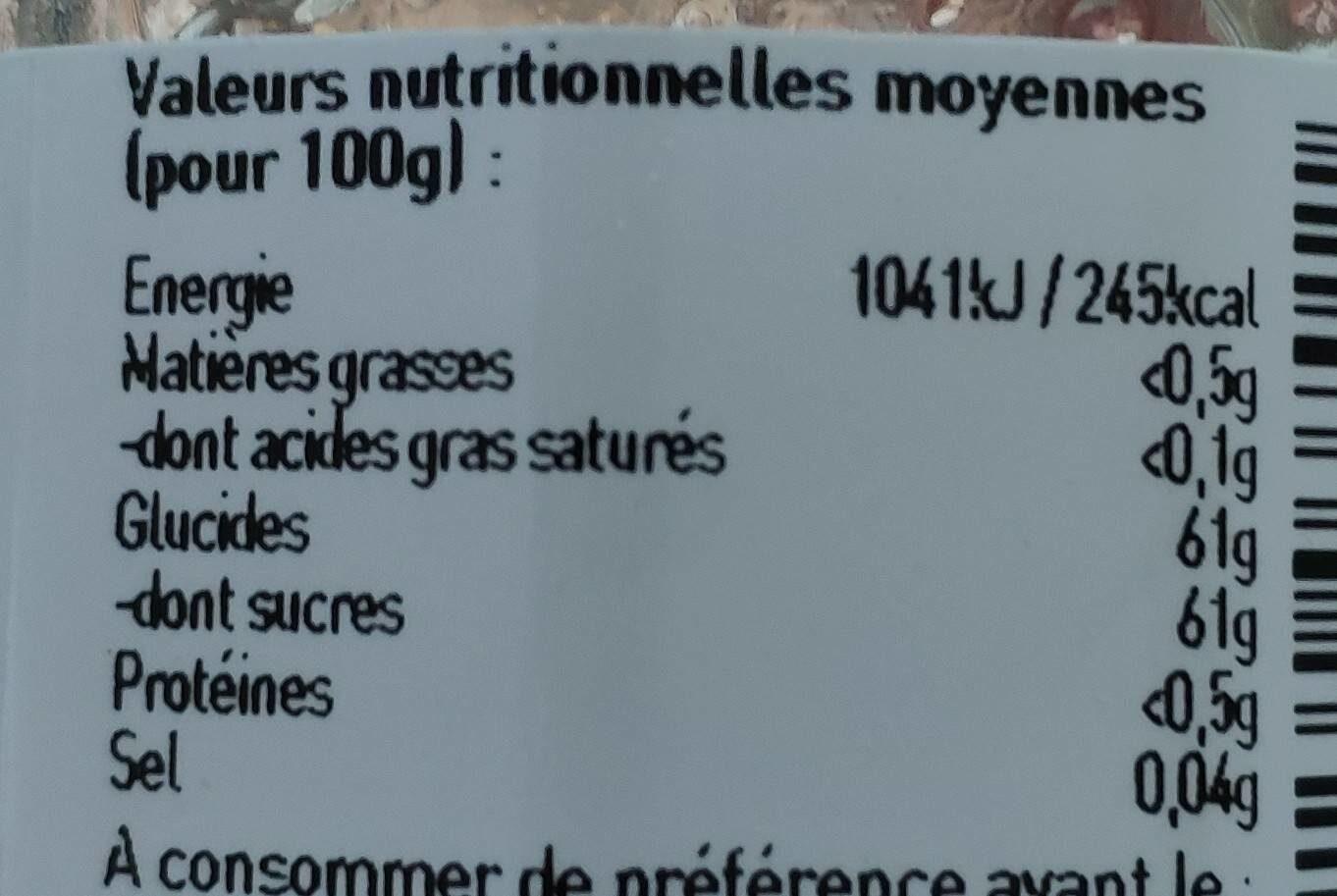 L'epicurien Lavender Buds Jelly - Confit of Lavender Flowers - Nutrition facts - fr