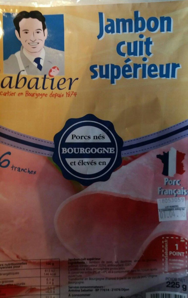 Jambon cuit - Product - fr