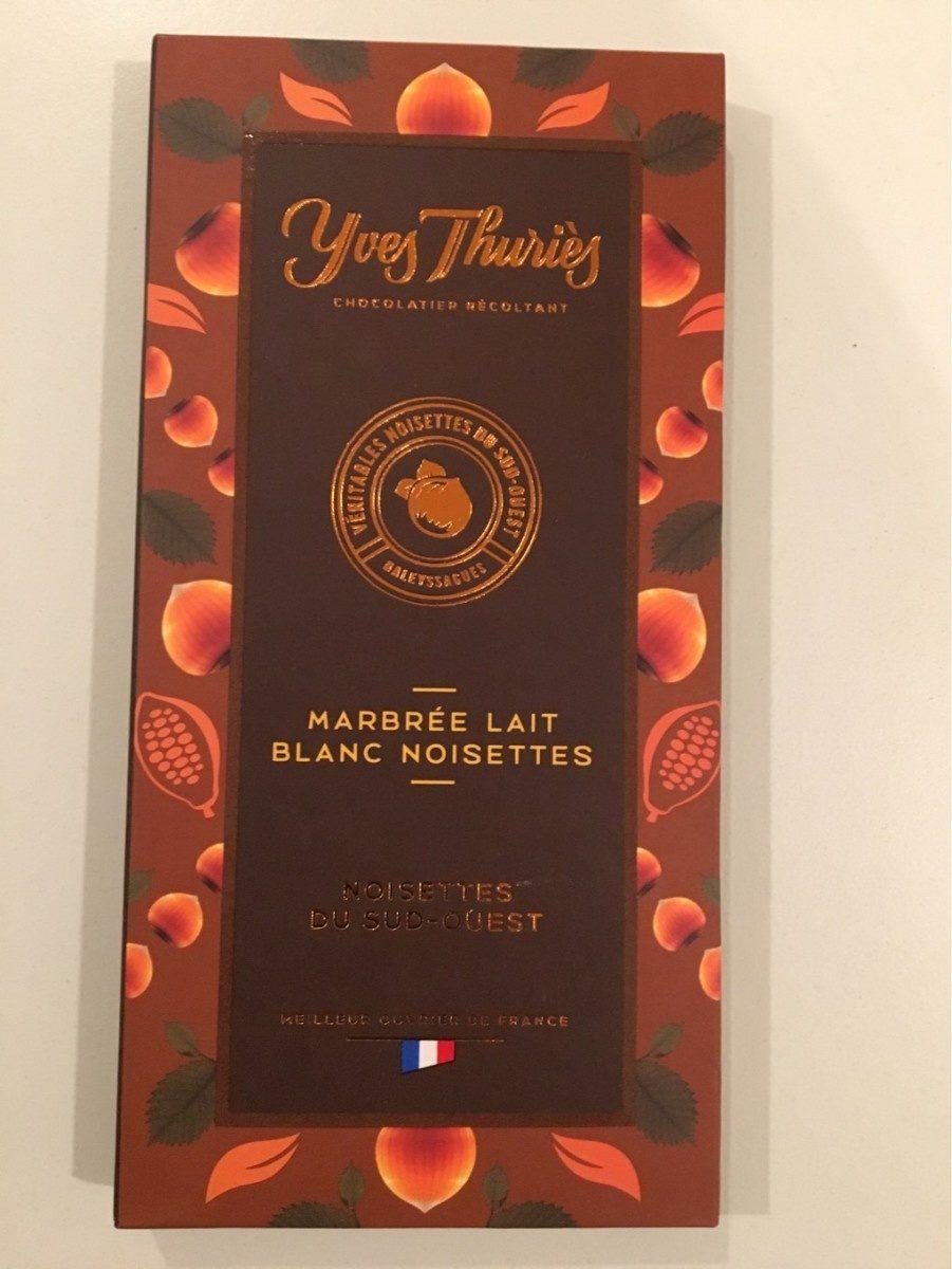 Marbré lait blanc noisettes - Product - fr