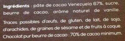 Chocolat - Ingrediënten - fr