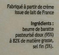 Beurre de baratte - Ingrediënten
