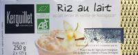 Riz au lait au lait entier et vanille de Madagascar - Product