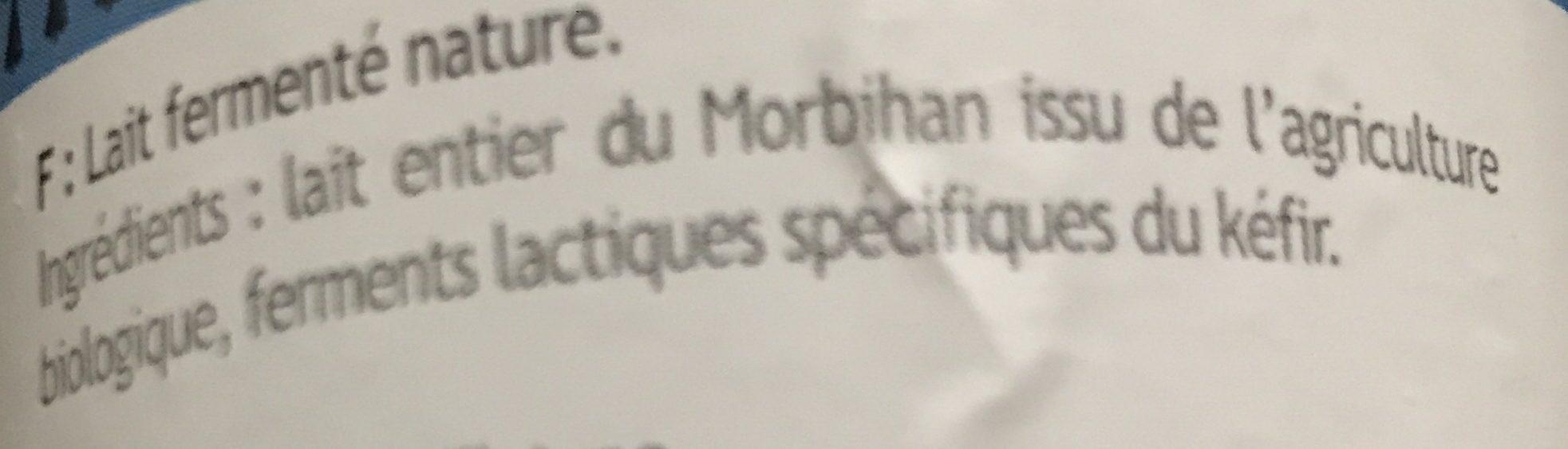 Kéfir Nature - Ingrédients - fr