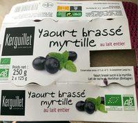 Yaourt brassé myrtille au lait entier - Produit