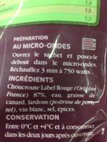 Choucroute - Ingrediënten