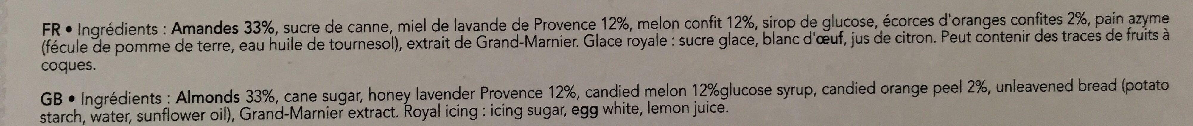 Les calissons de Provence - Ingredients