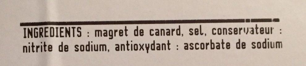 Magret de canard du Sud-Ouest séché - Ingredients - fr