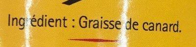 Graisse de canard - Ingredients - fr