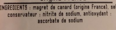 magret de canard fume au bois de hetre - Ingredients