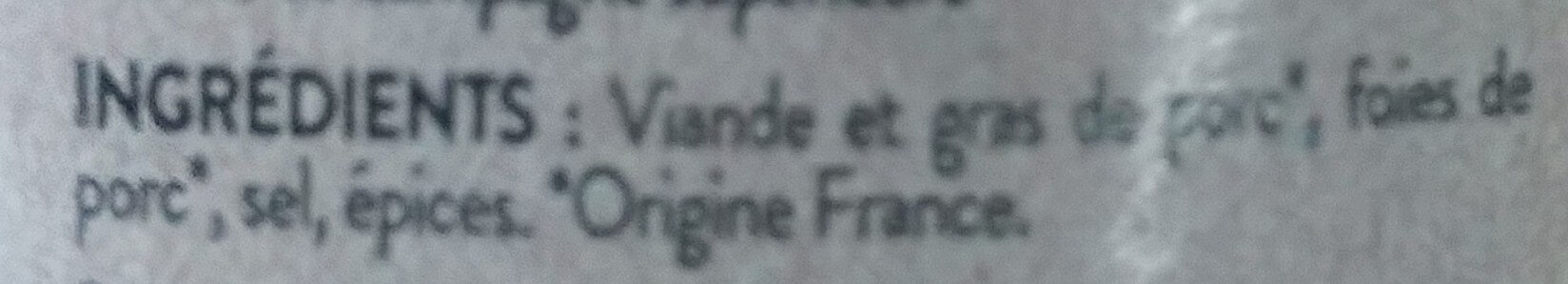Terrine quercynoise - Ingrédients - fr