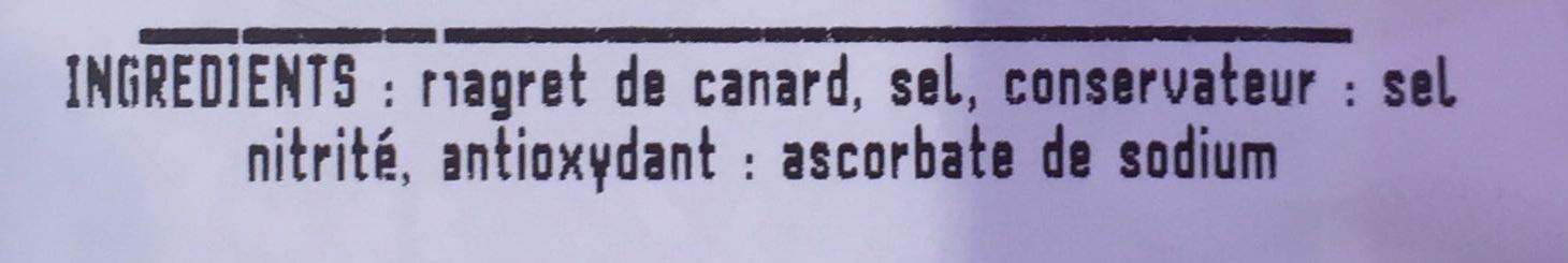 Magret de canard du S-O, séché - Ingrédients