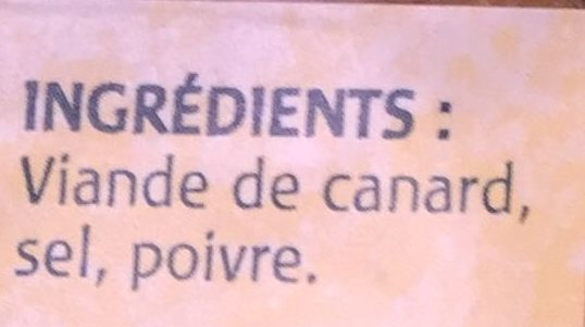 Grattons de Canard - Ingredients - fr