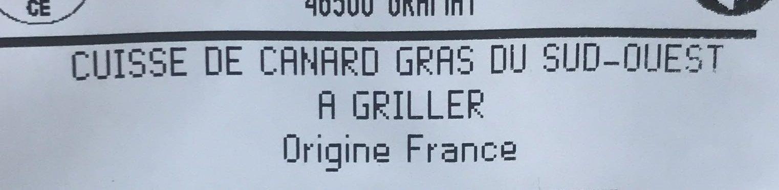 Cuisse de canard du Sud-Ouest - Ingredients - fr