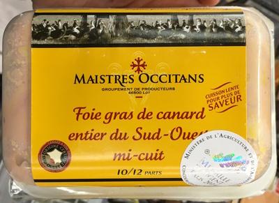 Foie gras de canard entier du Sud-Ouest mi-cuit - Product - fr