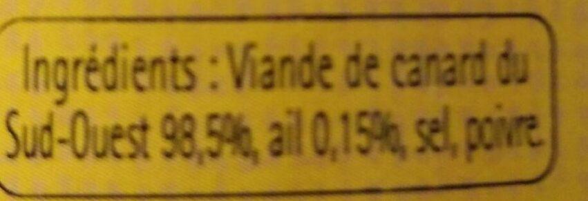 Grillons de canard parfumé à l'ail - Ingredients - fr