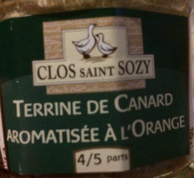Terrine de canard aromatisée àl'orange - Produit - fr