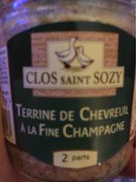 Terrine de chevreuil a la fine champagne - Produit