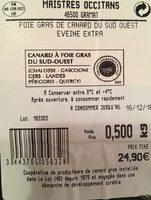 Le foie gras facile - Ingredients - fr
