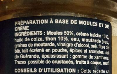 cocktail de fruits de mer - Ingrediënten - fr