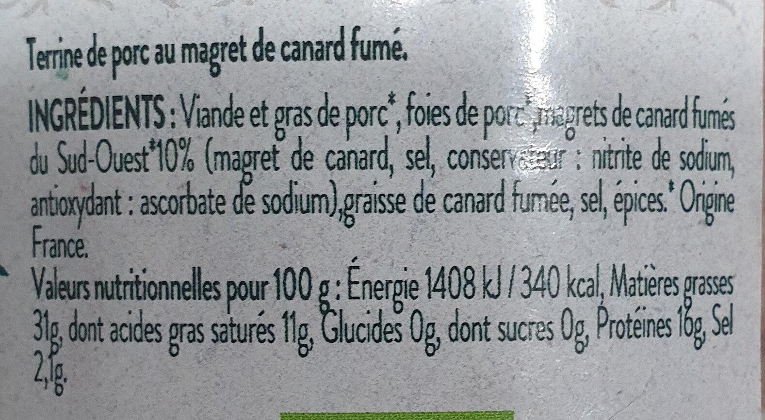 clos saint sozy - Ingredients - fr