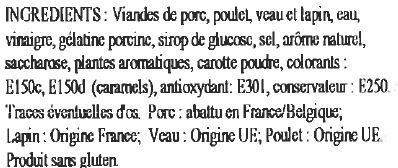 Potjevlesch à la Flamande aux 4 viandes - Ingrédients - fr