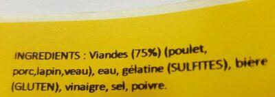 Pot'je vleesch - Ingredients