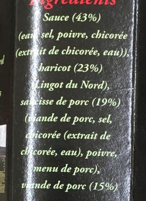 Porc aux lingots du Nord - Ingredients - fr