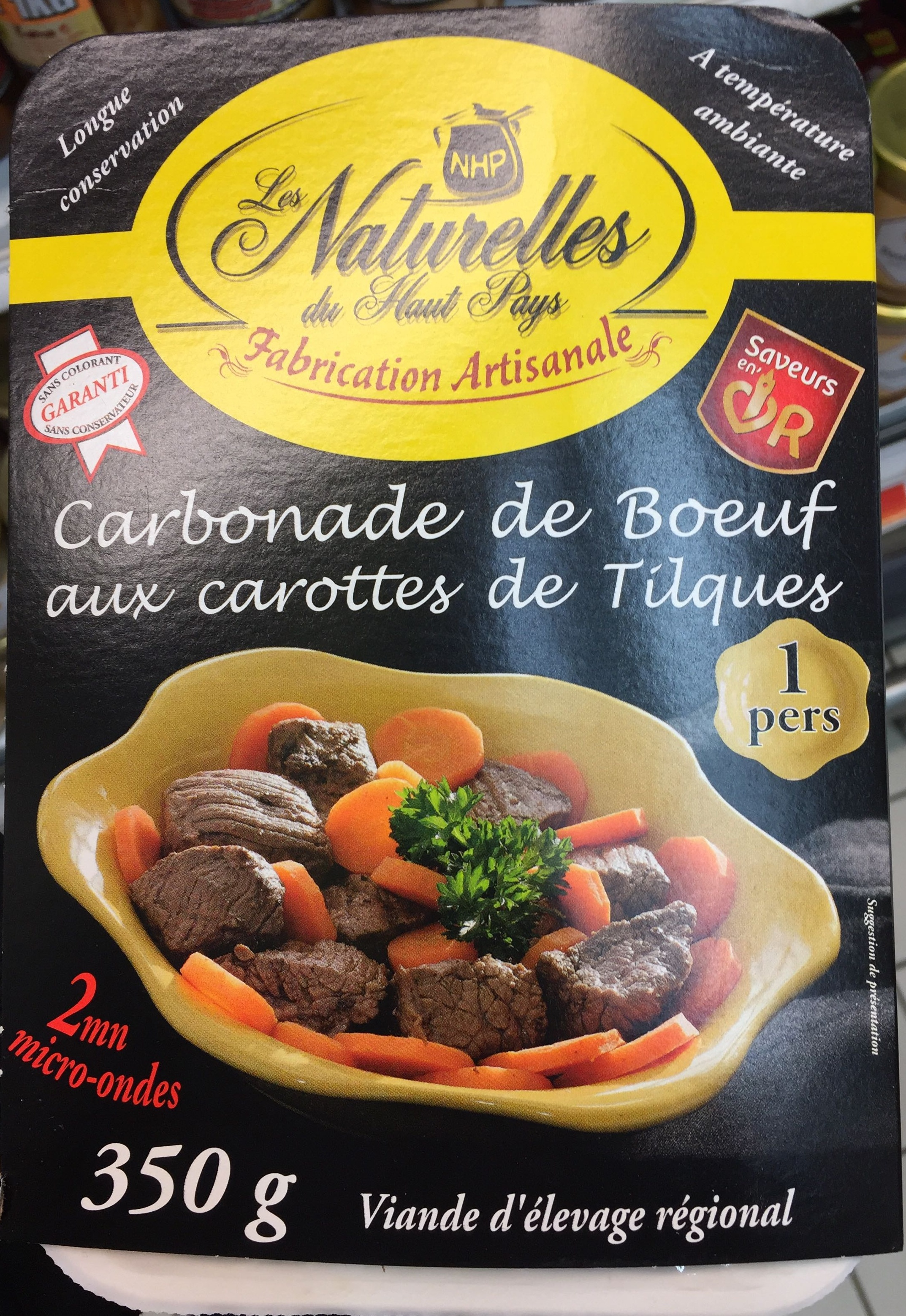 Carbonade de Boeuf aux carottes de Tilques - Produit