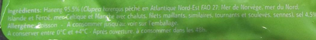 Filet De Hareng Doux - Ingrediënten - fr