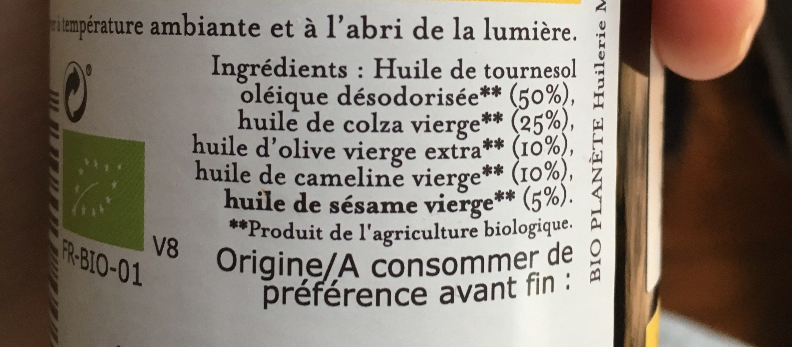 Oméga + Alliance de 5 huiles - Ingredients