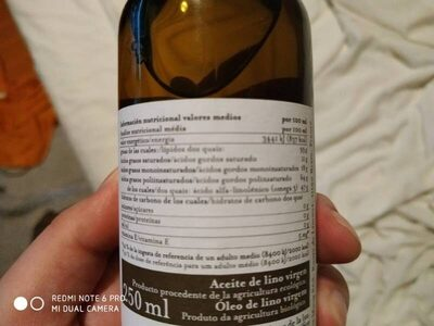 Aceite de lino virgen - Nutrition facts