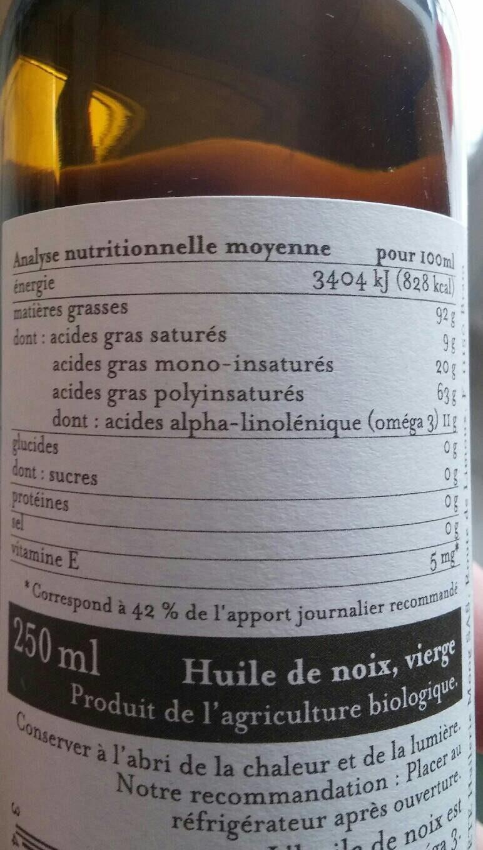 Huile de noix verge France - Produit