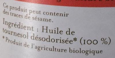 Huile de tournesol friture + poêlées - Ingrédients - fr